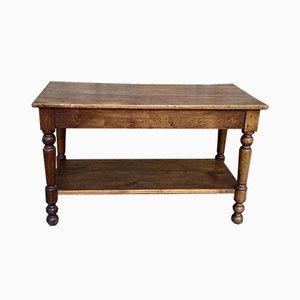 Antique Walnut Linen Table