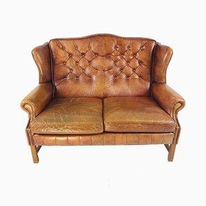 Mid-Century Georgian Style Wingback Chesterfield Sofa