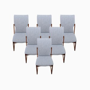 Teak Chairs with High Backrests from Vamdrup Stolefabrik, 1960s, Set of 6