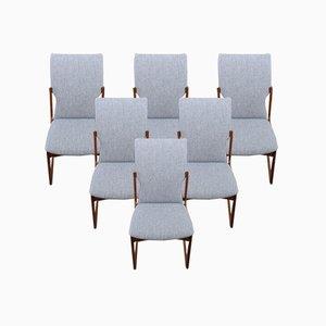 Teak Stühle mit Hoher Rückenlehne von Vamdrup Stolefabrik, 1960er, 6er Set