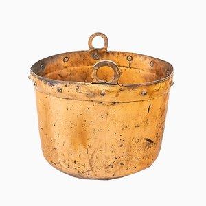 Antique Spanish Copper Cauldron