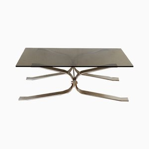 Steel and Glass Coffee Table, 1970s