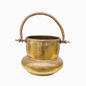 Copper and Brass Cauldron, 1960s