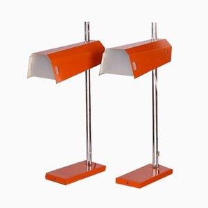Tischlampen von Josef Hurka für Lidokov, 1970er, 2er Set