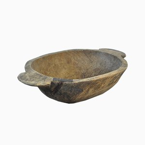 Handmade Hungarian Wooden Dough Bowl, Early 1900s