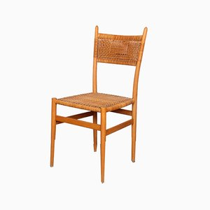 Vintage Czech Wicker Dining Chair, 1960s