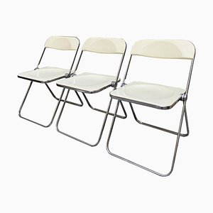 Pila Chairs by Giancarlo Piretti for Castelli, Set of 3