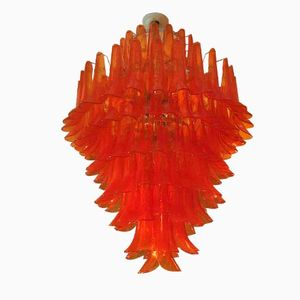 The Orange Chandelier by Mazzega for Murano, 1970