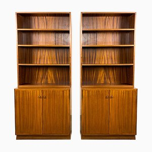 Swedish Mid-Century Bookcases from Royal Board, Set of 2