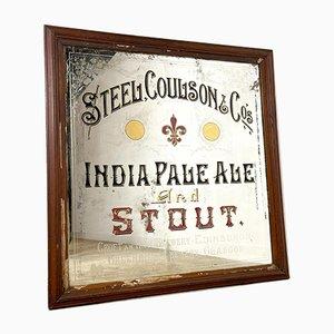 Antique Pub India Pale Ale Stout Mirror by Steel Coulson & Co, 1873