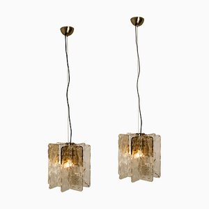 Pendant Lights by Carlo Nason for Mazzega, 1970s, Set of 2