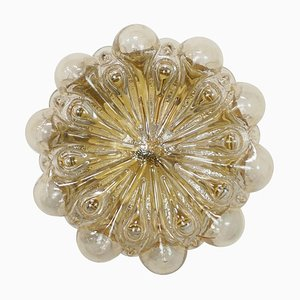 Amber Glass Wall Light by Helena Tynell for Limburg