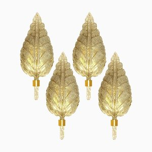 Large Gold and Murano Glass Wall Sconce from Barovier & Toso, Italy, 1960s
