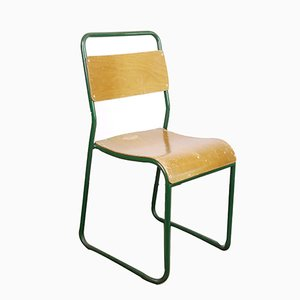 Cox Green Stacking Tubular Metal Dining Chair, 1940s