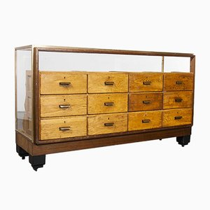 Small Brass Framed Twelve Drawer Haberdashery Drawer Unit, 1950s