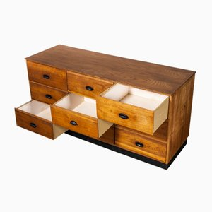 Belgian 9-Drawer Tailors Chest of Drawers, 1950s