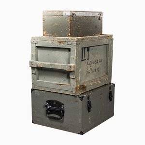 Scatole per macchine industriali modello 256.3, Russia, anni '60, set di 3