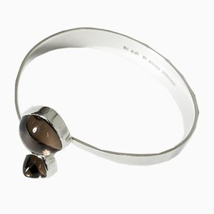 Silver and Smoke Quartz Bracelet from Gussi