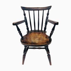 Silla infantil victoriana antigua, siglo XIX