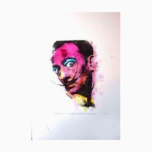 Sergio Barletta - Portrait of S. Dali - Original Mixed Media - 1994