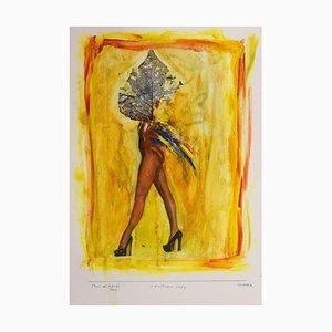 Sergio Barletta - African Lady - Original Mixed Media - 1997