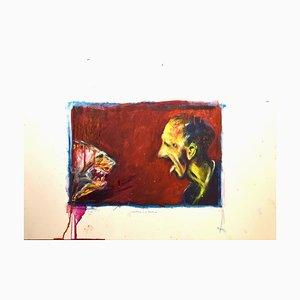 Sergio Barletta - the Scare - Original Mixed Media - 1997