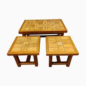 Ceramic Coffee Tables, 1960s, Set of 3