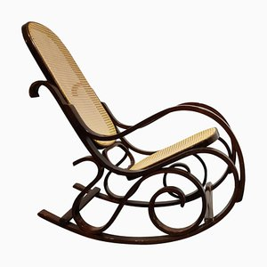 Vintage Thonet Style Rocking Chair, 1960s