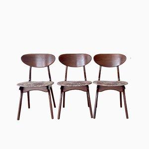 Vintage Esszimmerstühle von Louis van Teeffelen für WéBé, 3er Set