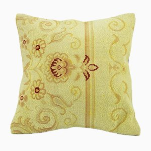 Vintage Yellow Pillow Cover