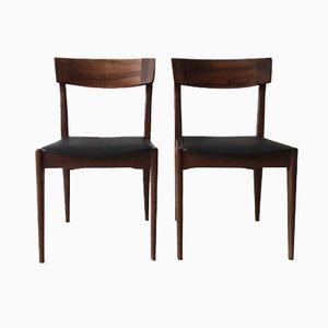 Mid Century Esszimmerstühle aus Palisander von Erik Buch, 2er Set
