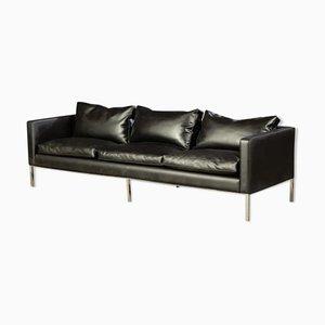 Schwarzes Sofa von Artifort, 1960er
