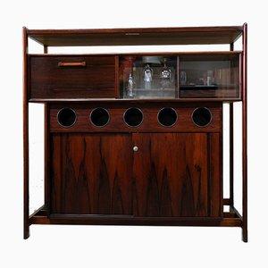 Mueble bar danés de palisandro de Erik Buch para Dyrlund, años 60