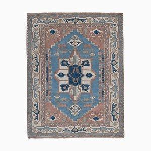 Vintage Blue Turkish Kars Rug