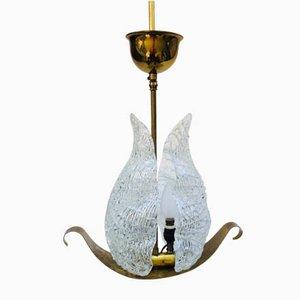 Lampe à Suspension Feuille de Barovier & Toso, Italie, 1950s