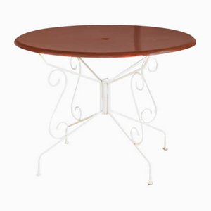 Painted Iron Garden Table, France, 1970s