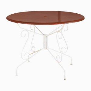 Tavolo da giardino in ferro verniciato, Francia, anni '70