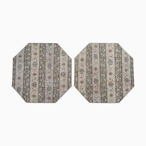 Türkische Vintage Teppiche aus geometrischer Wolle, 1970er, 2er Set