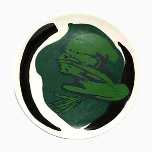 Italian Ceramic Plate by Remo Brindisi for Centro D'Arte Mercurio, 1970s
