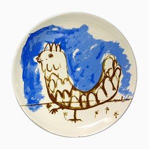 Italian Ceramic Plate by Gino Meloni for Centro D'Arte Mercurio, 1970s
