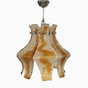 Lampe à Suspension en Verre de Murano de Mazzega, Italie