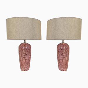 Ceramic Table Lamps, 1980s, Set of 2