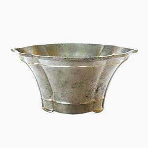 Danish Embossed Metal Vase by Just Andersen, 1930s