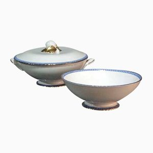 Italian Ceramic Bowls from Galvani, 1920s, Set of 2
