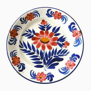 Italian Pordenone Ceramic Plate by Angelo Simonetto for Galvani, 1920s