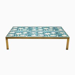 Tavolino da caffè con mattonelle in ceramica di Gio Ponti, anni '70