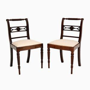 Antique Regency Rope Back Side Chairs, Set of 2