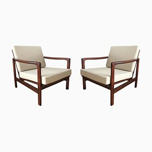 Polish B-7752 Armchairs by Zenon Bączyk for Swarzędzkie Fabryki Mebli, 1960s, Set of 2