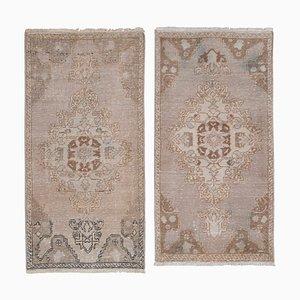 Small Turkish Oushak Carpets, 1970s, Set of 2