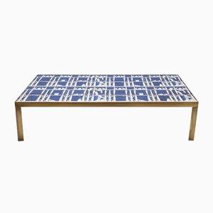 Tavolino da caffè con mattonelle in ceramica di Gio Ponti, anni '50